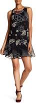 Desigual Sleeveless Sheer Dress With Beaded Broach