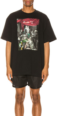 Off-White Caravag Painting Over Tee in Black | FWRD