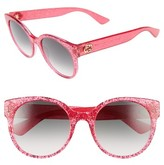 Gucci Women's 54Mm Glitter Sunglasses - Fuschia Glitter/ Green
