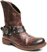 Two Lips Brown Madness Leather Buckle Boot