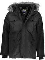 Fahrenheit Black Faux-Fur Hood Anorak Coat
