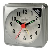 Acctim Ingot Travel Alarm Clock, Silver, Mini by