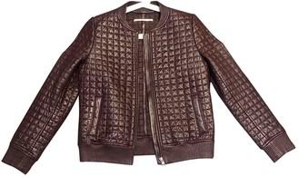 Jonathan Simkhai Burgundy Leather Jacket for Women