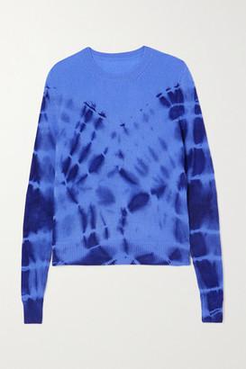 The Elder Statesman Tie-dyed Cashmere Sweater - Blue
