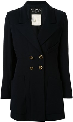 Chanel Pre Owned 1994 Double-Breasted Blazer