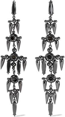 Zimmermann Gunmetal-tone Crystal Earrings
