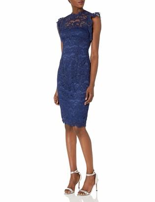 Adrianna Papell Women's Ruffled Sleeve Lace Sheath Dress