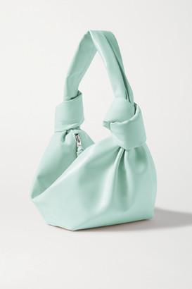 Bottega Veneta Mini Knotted Leather Tote - Blue