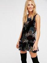 Free People Velvet Burnout Mini Dress