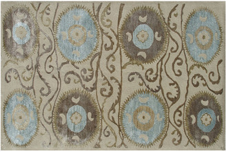 The Rug Market Suzani Tile Hand-Made Wool & Silk Contemporary Rug