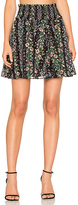 Needle & Thread Floral Stripe Skirt in Black. - size 2 (also in )