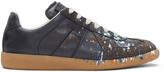 Maison Margiela Black Paint Splash Replica Sneakers
