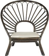 GLOBE WEST Deck Chairs Rumba Oyster Rattan Occasional Chair