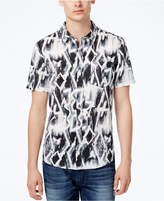GUESS Men's Chalk Graffiti-Print Cotton Shirt