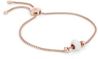 Katie Belle Libbie 18ct Rose Gold Vermeil Gemstone Charm Bracelet - Rainbow Moonstone
