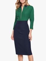 Damsel in a Dress Shonna Colour Block Dress, Navy/Green