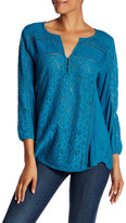 Lucky Brand Lace Inset Blouse