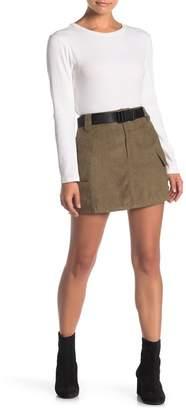 FAVLUX Cargo Belted Mini Skirt