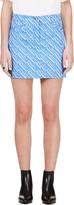 Kenzo Periwinkle & White Denim Skirt