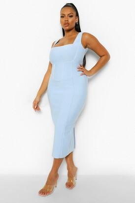 boohoo Plus Bandage Sculpt Midi Dress