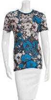 Christopher Kane Printed Short Sleeve Top