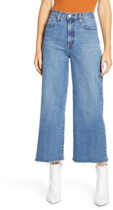 Nobody Denim Milla High Waist Fray Hem Crop Wide Leg Jeans