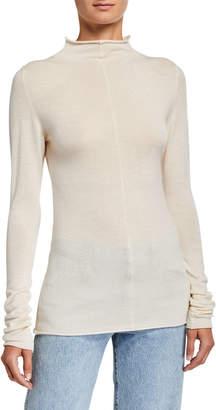 KHAITE Lola Cashmere Mock-Neck Sweater