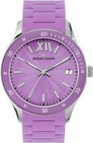 Jacques Lemans Ladies Rome Sports Wrist Watch 1-1623J with Purple Silicone Strap