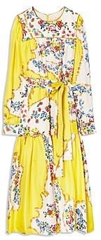Tory Burch Printed Silk Tea Dress