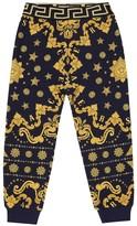 Versace Kids Printed cotton trackpants