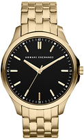 Armani Exchange Ax2145 Gold Plated Bracelet Strap Watch, Gold/black
