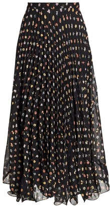 See by Chloe Botanical Flowers Midi Skirt