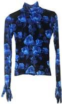 Richard Quinn Blue Velvet Top for Women