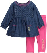 Juicy Couture Chambray Tunic & Legging Set (Baby Girls 12-24M)