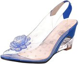 Jiyaru Women Plastic Sandals Clear Flower Peep Toe Wedge Sandal 42 US10