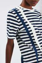 Boutique Taped stripe tee