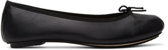 Repetto Black Leather Nizieri Metis Ballerina Flats