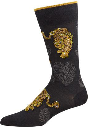 Marcoliani Milano Men's Pima Cotton Tiger Socks