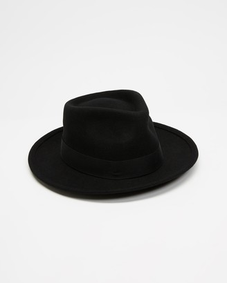 Brixton Black Hats - Faucet Fedora - Size S at The Iconic
