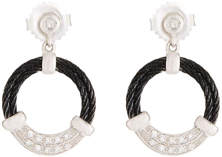 Alor Noir Hoop Drop Earrings, Black