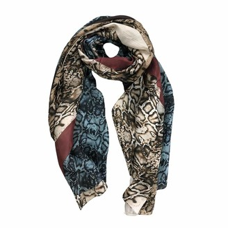 Generico Generic Women's Scarf Stole Pure Silk Lightweight Animal Print Elegant Gift Idea - Red - One size
