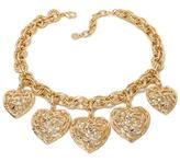 "RJ Graziano Passionista"" Crystal-Accented Goldtone Heart Dangle 16-1/2"" Necklace"
