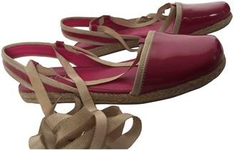Prada Pink Patent leather Espadrilles