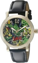 Marvel The Hulk Women's W002590 Hulk Analog Display Analog Quartz Black Watch