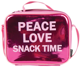 Fashion Angels Pink Metallic 'Peace Love Snack Time' Lunch Tote