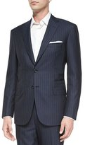 Brioni Striped Two-Piece Suit, Navy