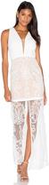 Aijek Tatiana Embroidered Maxi Dress