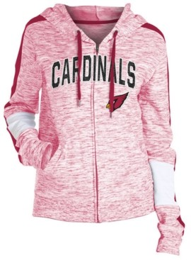 5th & Ocean Women's Arizona Cardinals Space Dye Full-Zip Hoodie