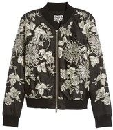 Pam & Gela Women's Embroidered Bomber Jacket