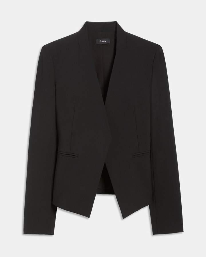 Theory Stretch Wool Open Jacket